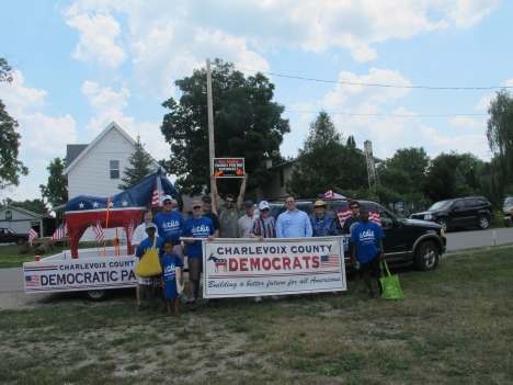 June 28 East Jordan Freedom Festival Parade.  Dems and the donkey braved the 93-degree temperatures!